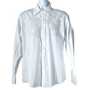 ROAR Signature Shirt Embroidered White